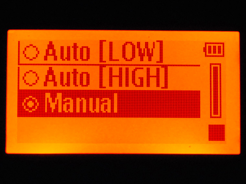録音レベル設定ではマニュアルが標準
