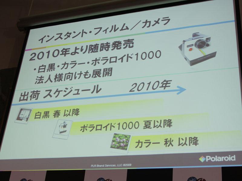 インスタントフィルムカメラ製品のロードマップ