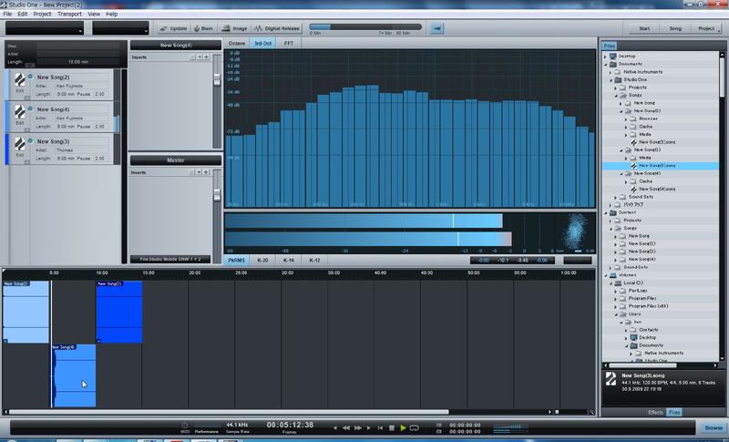 Songとして作ったファイルを並べていく