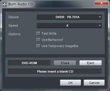 できあがったProjectをCDにライティング可能