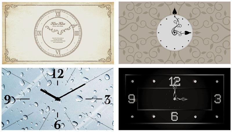 4種類の時計デザイン