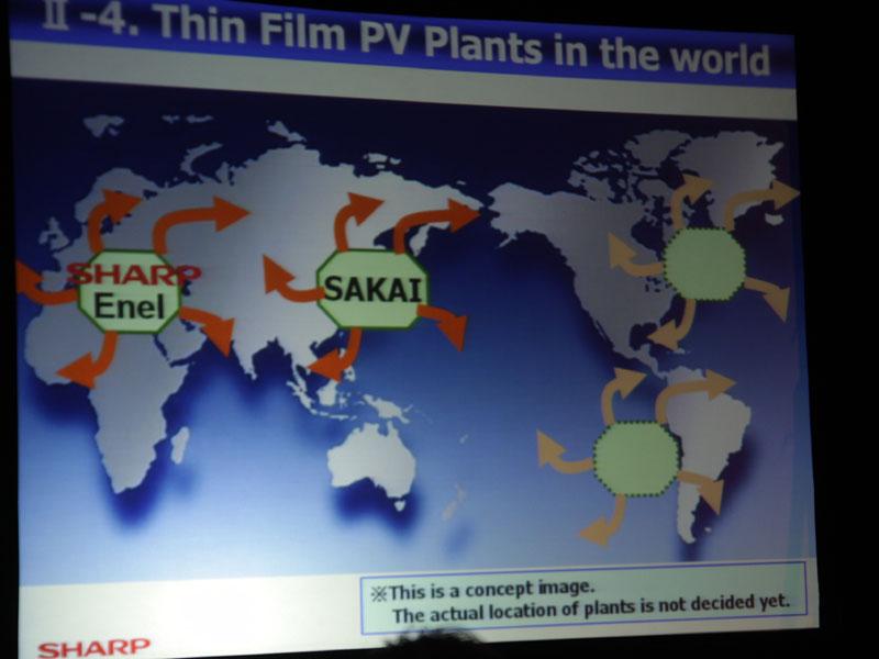 海外にも堺と同様の薄膜フィルムPV工場を計画