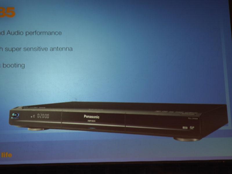 無線LANを内蔵したBDプレーヤー「DMP-BD85」