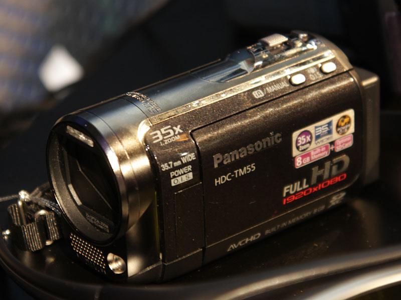 フルHDビデオカメラの「HDC-TM55」