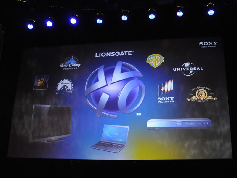 プレイステーションだけでなく、BRAVIAやBDプレーヤーなど民生機器でもPSNのビデオサービスに対応