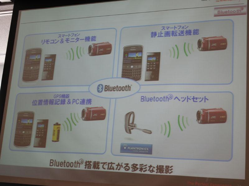 Bluetoothを使った4種類の機能を搭載する