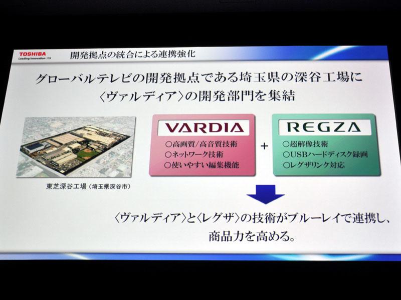 VARDIAとREGZAの開発部門を融合し、商品力強化を図る