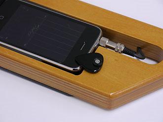 ステレオミニでiPhoneと接続