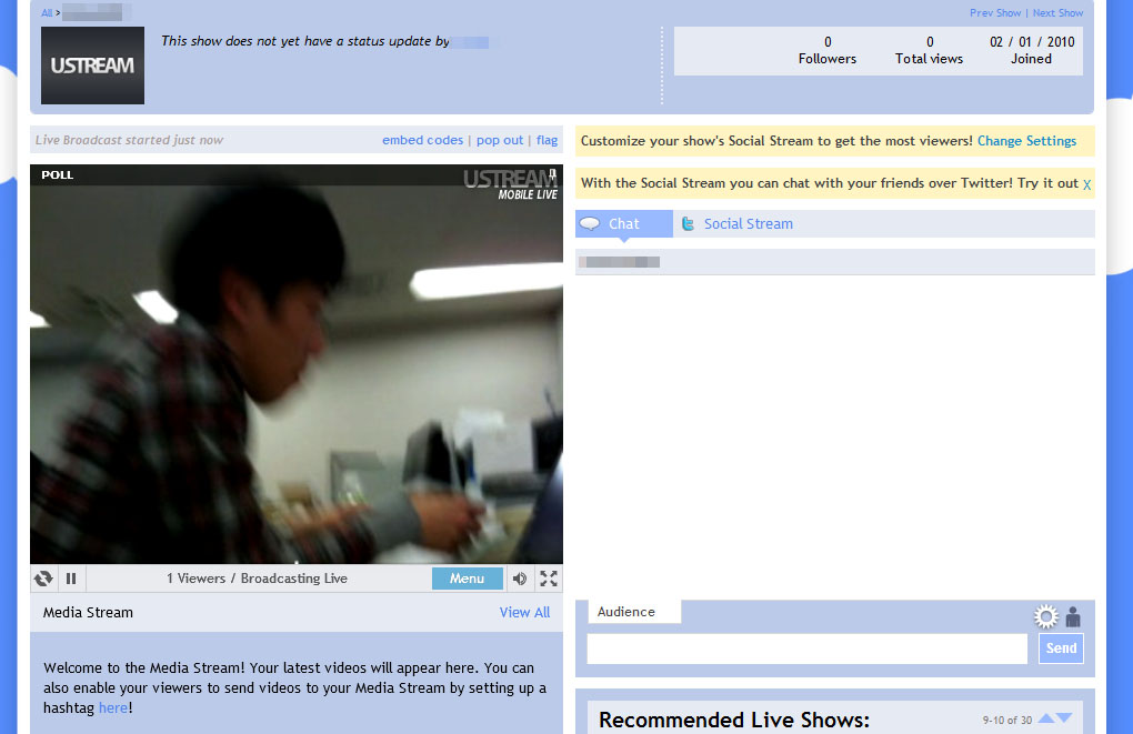 iPhoneなどで撮影した映像を、離れた場所のPCなどでライブ視聴できる