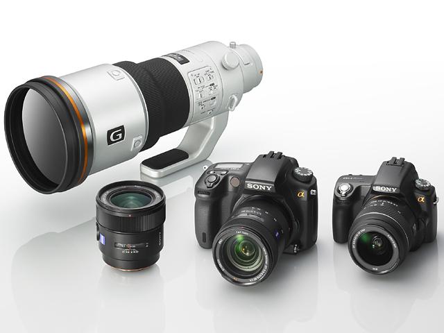 一眼レフ「α」の新モデル2機種と交換レンズ