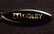クリスタルの反対面にはドルビーのロゴマークをレーザーホログラムでダイレクト刻印