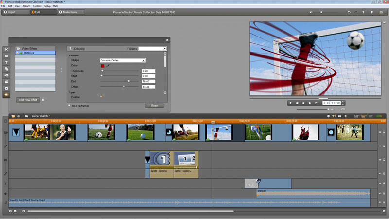 Ultimate Collectionのみ同梱のビデオプラグイン。左から、Magic Bullet、Particular、Trapcode 3D