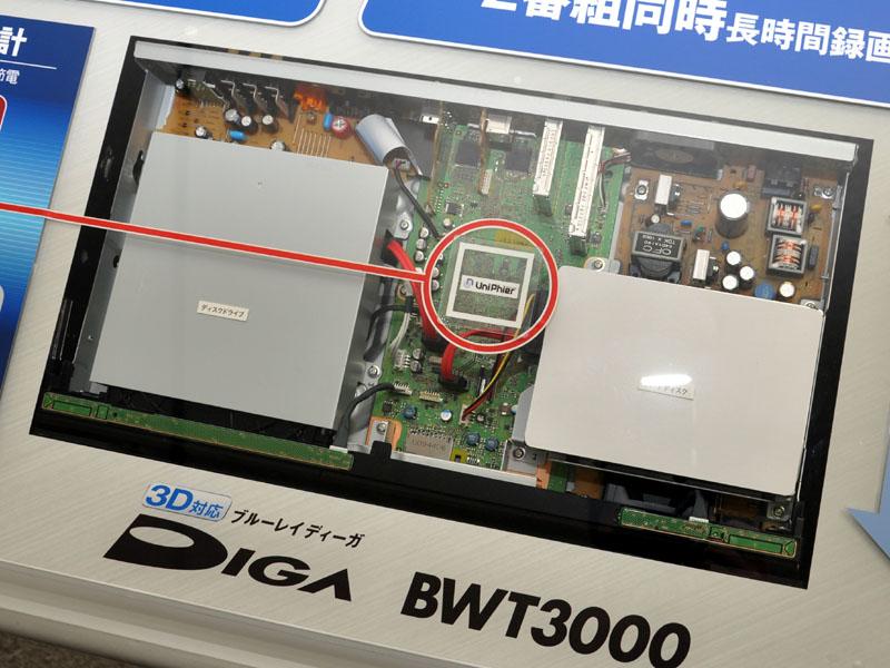 BWT3000の中核プロセッサとして新UniPhierを内蔵する