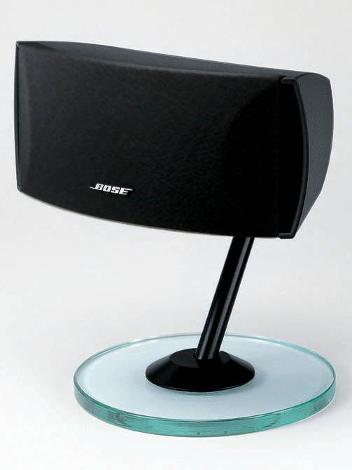 <FONT size=2>CineMate購入者にプレゼントされるテーブルスタンドGTS-20。カラーはブラックのみ</FONT>