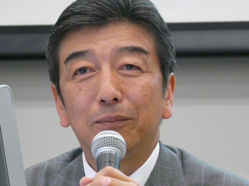 <FONT size=-1>三菱電機の山西健一郎社長</FONT>
