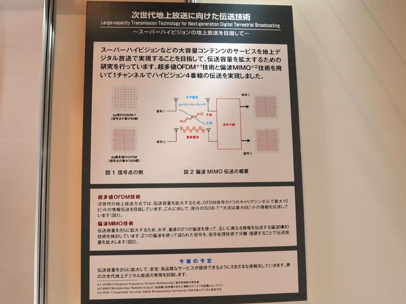 超多値OFDM技術と偏波MIMO技術を使った地上放送効率化の概要
