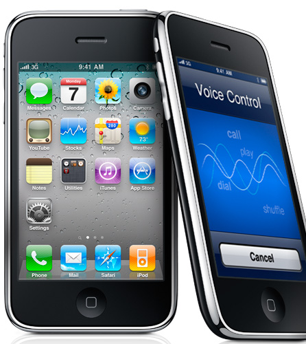 <FONT size=2>iOS 4を適用したiPhone 3GS</FONT>
