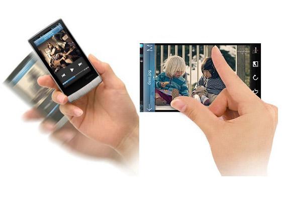 <FONT size=2>Gセンサーやマルチタッチ対応のタッチスクリーンを装備</FONT>