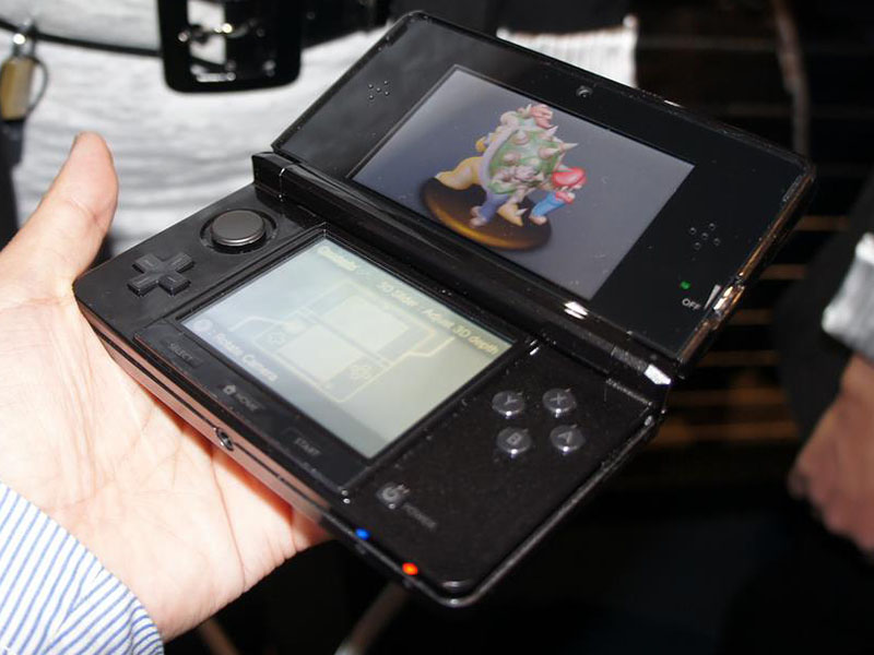 ニンテンドー3DSの上部液晶での3D表示をチェック