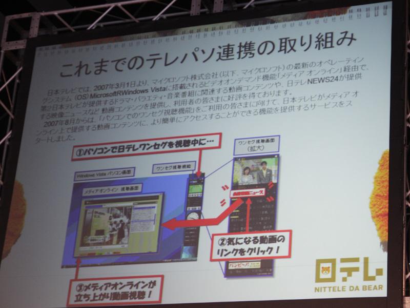 日本テレビのこれまでのテレビ/パソコン連携の取組み