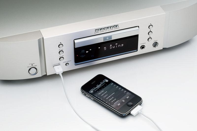 SA8004。iPhoneのデジタル入力にも対応する(iPhoneは別売)