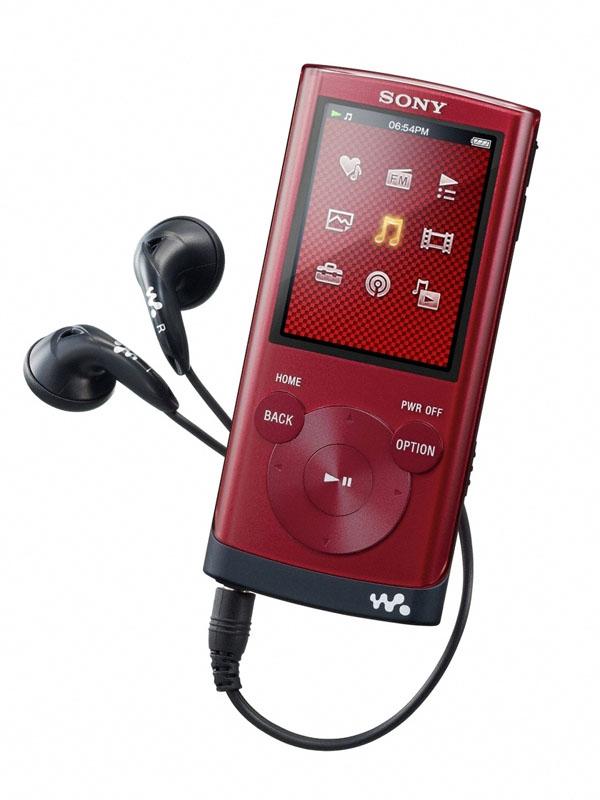 NWZ-E350 レッド