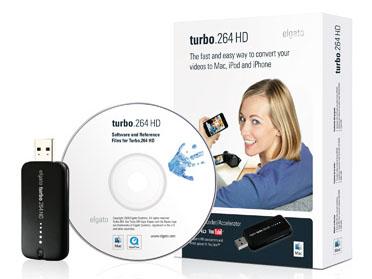 「turbo.264 HD」。USBケーブルなどを同梱