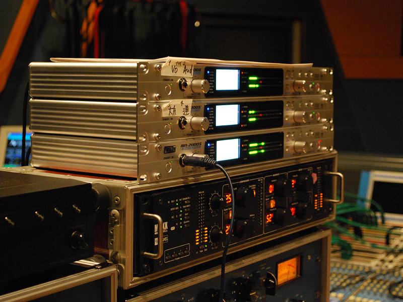 KORGのMR-2000Sを3台使用してレコーディング