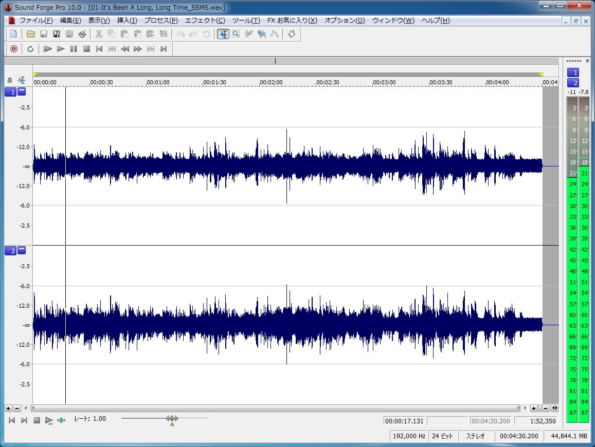 <CENTER>SoundForge Pro 10の波形表示</CENTER>