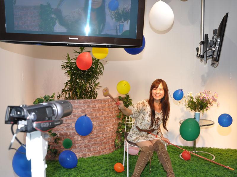HDC-TM750で3D撮影した映像をその場で再生