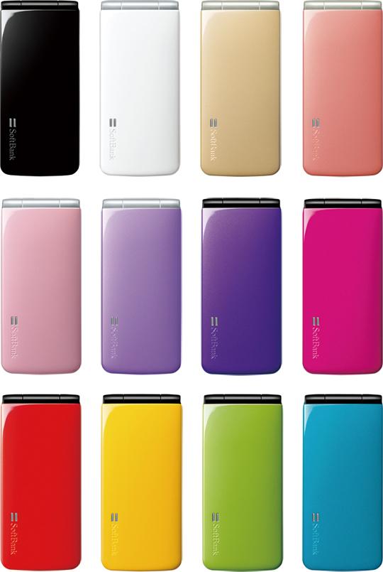 「002P」は2トーンカラー3種、ベーシックカラー12色の計15色