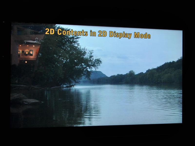 55型で2D/3D切り替え対応の裸眼3Dも。9視差の裸眼3DとフルHDの2Dを瞬時に切り替えられる