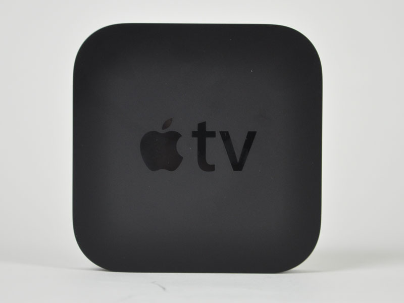 Apple TVの上面。ロゴ