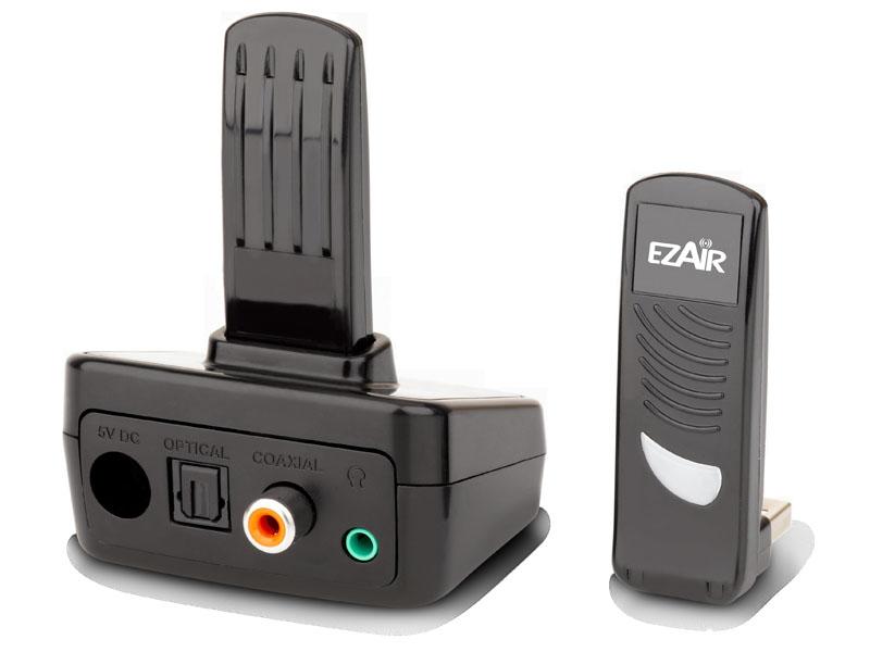 レシーバには光デジタル、同軸デジタルとアナログ音声出力を装備