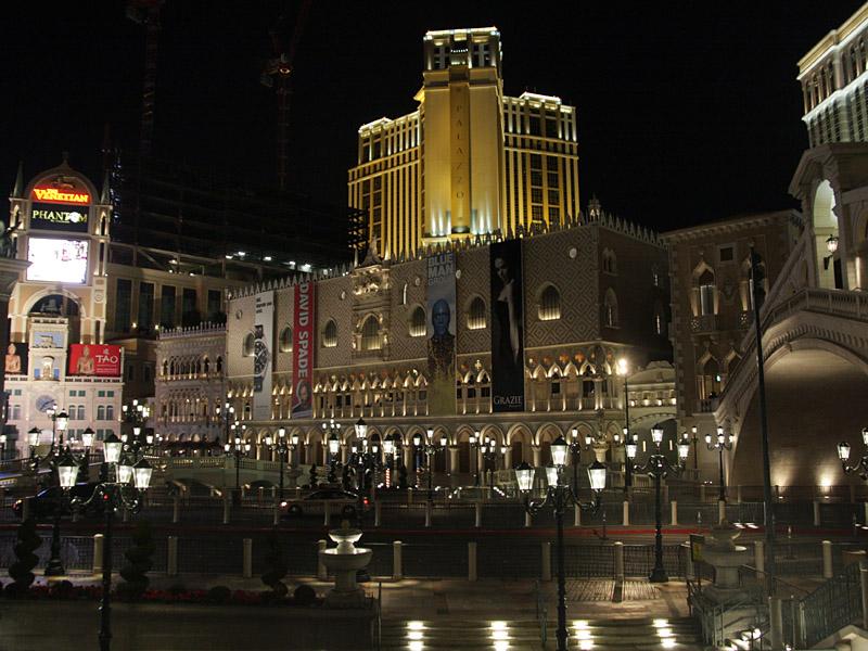 プレスカンファレンスなどが行なわれるホテル「The Venetian」