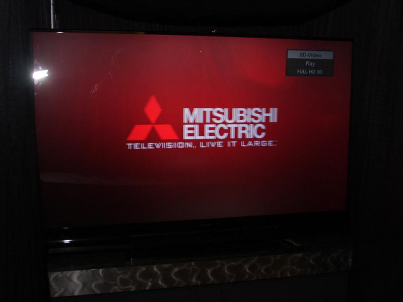 三菱の3D対応DLPリアプロテレビ