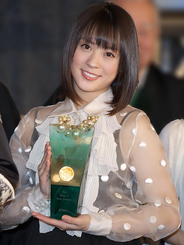 「ザ・ベスト5ニュー・アーティスト」を受賞した北乃きいさん