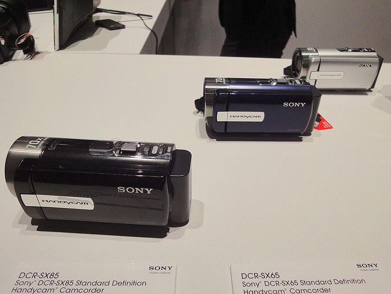 写真左からDCR-XS85、XS65、XS45