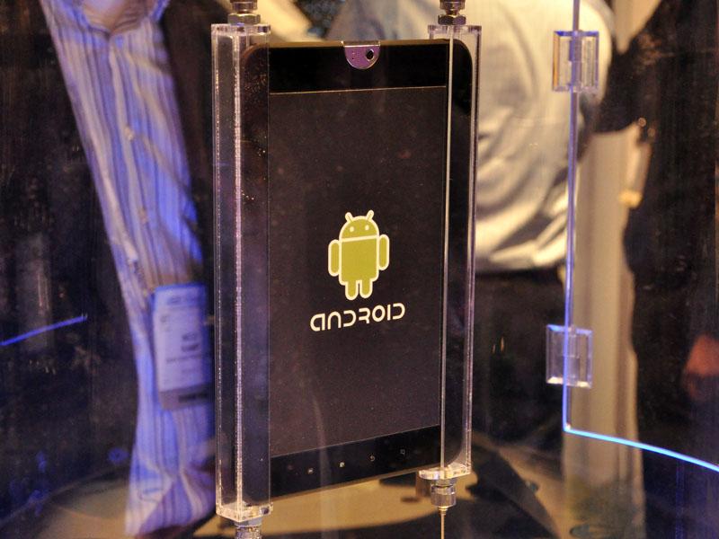 Android 3.0搭載のタブレット。ケースに入れられており、操作することはできなかった