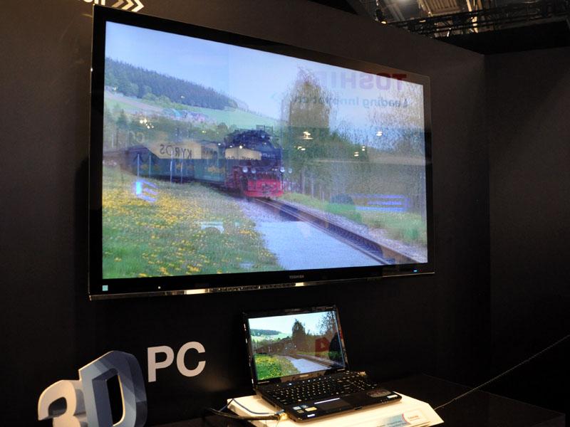 3D Vison対応のノートPCなどもデモ