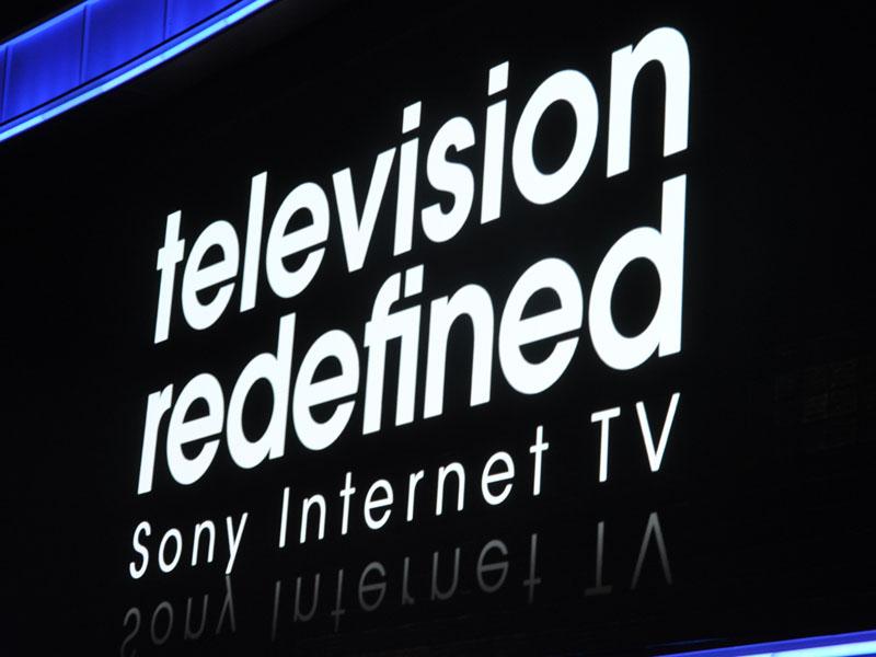 プレスカンファレンスでストリンガーCEOが、2011年のテレビのテーマとして掲げた「Television Redefined(テレビ再定義)」