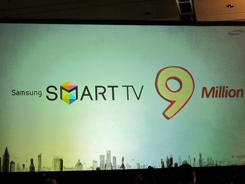 サムスンはスマートテレビ機能をネットワーク機能付きのほとんどのテレビに盛り込み、900万台の出荷を計画
