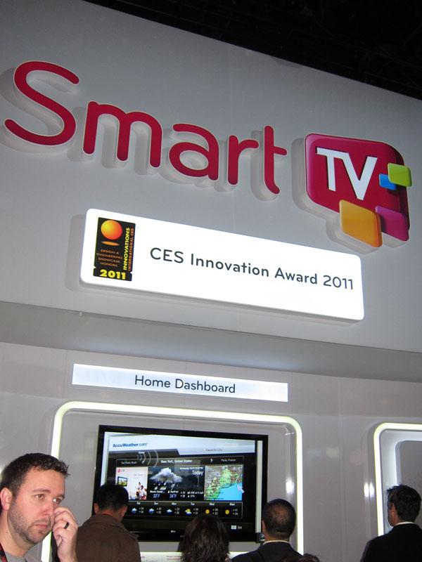 LGもスマートテレビ。情報端末としての性格付けが強いという印象