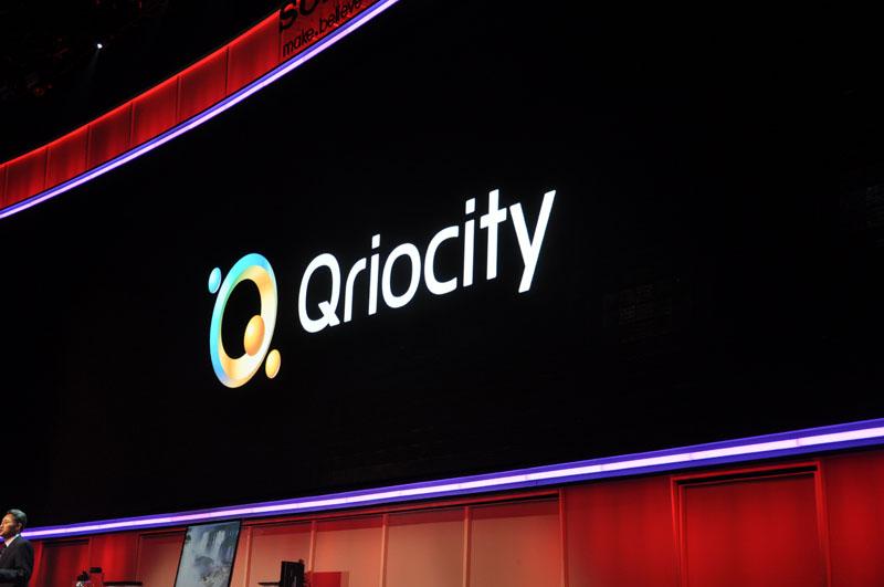 プレスカンファレンスでも大々的に紹介された「Qriocity」