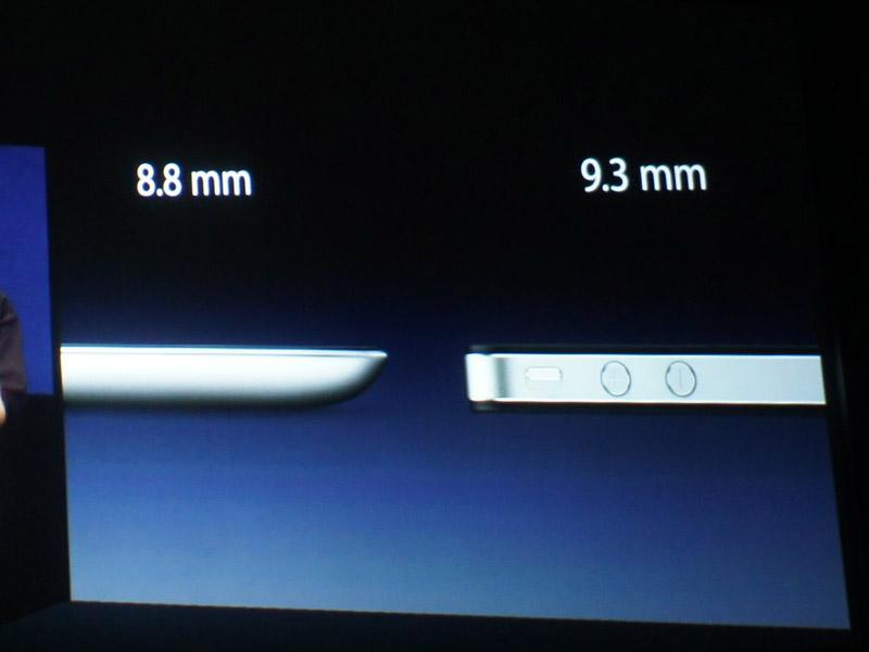 8.8mmと、iPhone 4より薄い