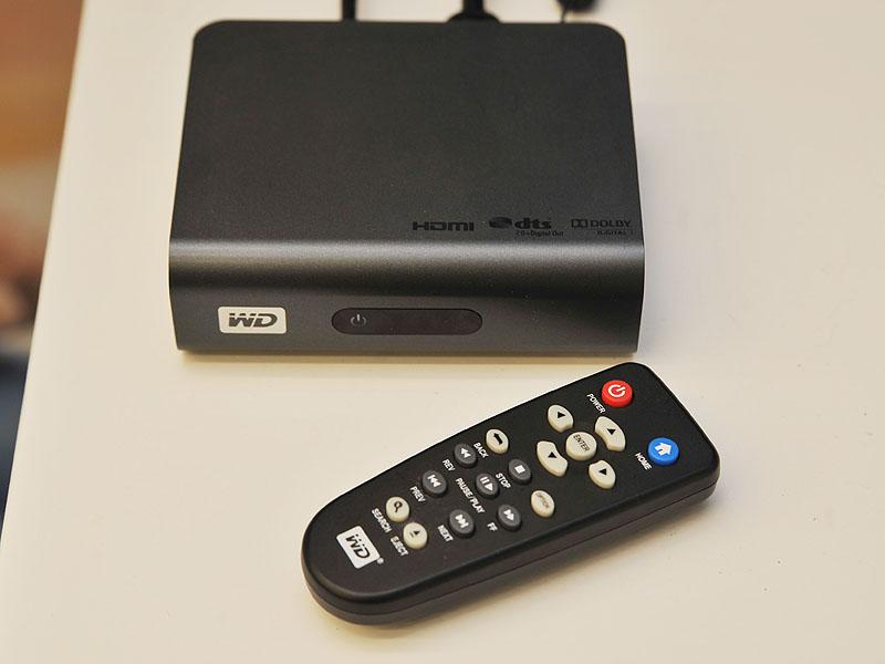 HDDを内蔵しないタイプ「WD TV Live」は、既に発売中