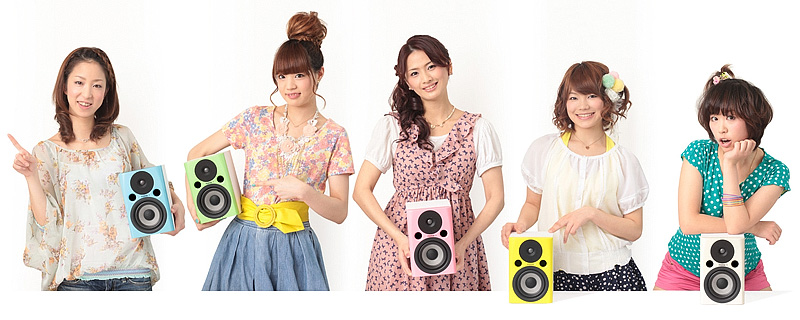 <CENTER>左からライトブルー(LB)、ライムグリーン(LG)、ピンク(PK)、レモンイエロー(LY)、ベージュ(BG)</CENTER>