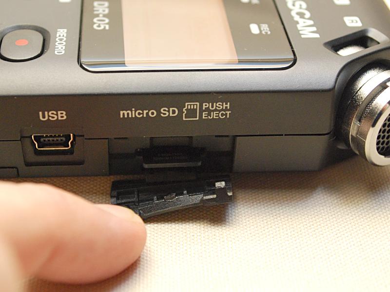microSDカードスロット部