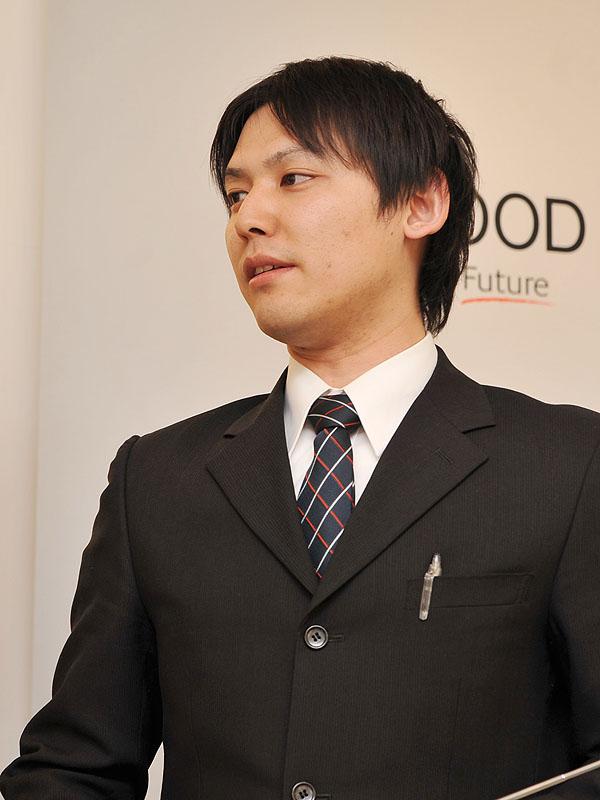 <FONT size=2>AVコミュニケーション統括部 技術部 第一設計グループの田村信司氏</FONT>