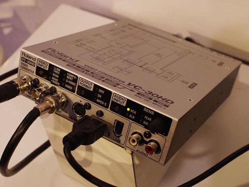 ネット配信も視野に入れたコンバータ「VC-30HD」